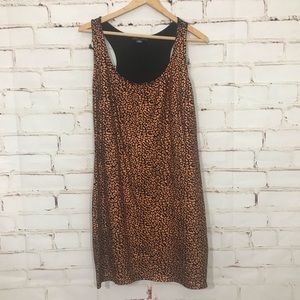 F21 Metallic cheetah Bodycon Dress